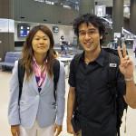 成田空港でなでしこジャパンに遭遇!