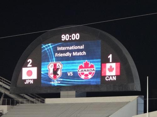 日本対カナダ
