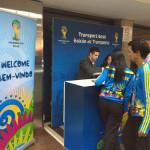 サンパウロ・グアルーリョス空港での無料WiFi接続方法と観戦チケット発券方法
