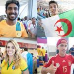 ワールドカップファイナルを彩った世界中のサポーターたち