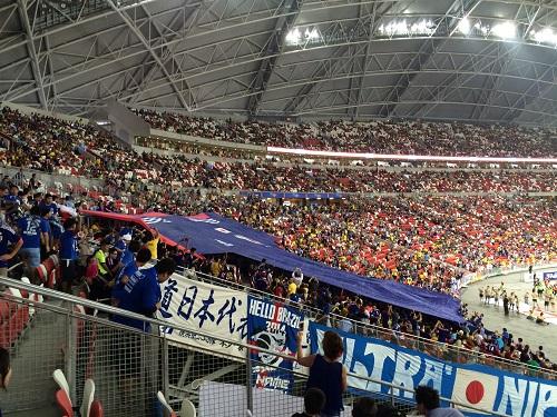 日本対ブラジル@シンガポール