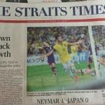 シンガポール現地レポ 「ネイマール4-0日本」と報じられる屈辱