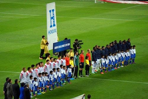 日本代表対ホンジュラス代表