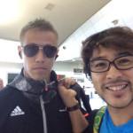 メルボルン空港で日本代表選手と写真撮れたああああああ!