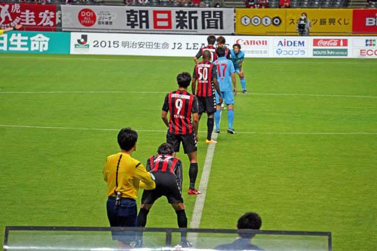 コンサドーレ札幌対ロアッソ熊本