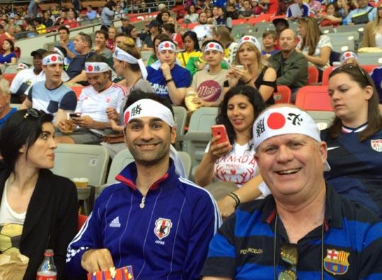 日本対カメルーン