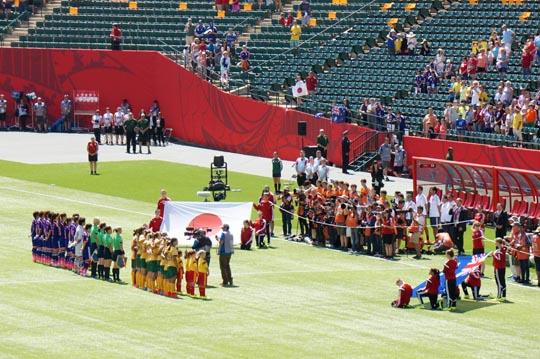 女子W杯準々決勝日本対豪州