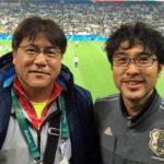 準々決勝の舞台で手倉森監督に挨拶ができました