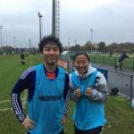 前座試合のプレスマッチのベルギー対日本で永里優季とプレーしました!