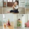 スタジオでプロのカメラマンに子シシを撮影してもらいました