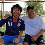 ドーハで名波浩や松木安太郎ととサッカーしました。
